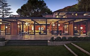 Picture house, furniture, interior, lighting, exterior