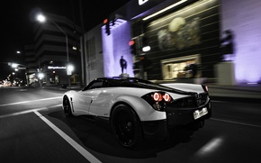 Picture Pagani, supercar, night, street, To huayr