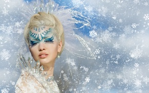 Picture girl, face, fantasy, makeup
