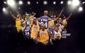 Picture Basketball, NBA, Los Angeles Lakers, Player, Shaquille O'neal, Shaquille O'neal, Los Angeles Lakers, Super me