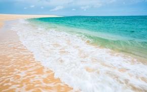 Picture sand, sea, beach, the sky