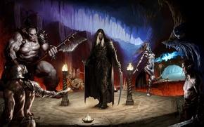 Wallpaper Robert Salvatore, Orc, Gvenvivar, familiar, art, Guenhwyvar, Panther, elf, cave, drow, weapons, Goblin, dark elf, ...