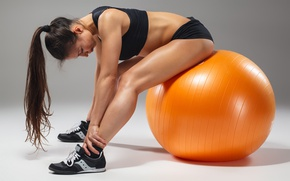 Picture ball, female, workout, fitness