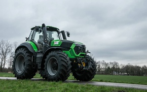 Picture wallpaper, tractor, agriculture, farming, Deutz Fahr