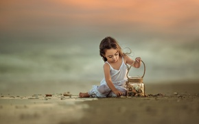 Picture sea, mood, girl