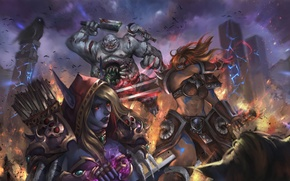 Wallpaper Sonya, diablo, warcraft, Sylvanas, Heroes of the Storm, Wandering Barbarian, Stitches