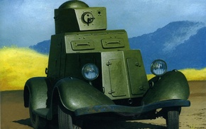 Picture figure, art, chassis, armored car, easy, used, 1936, car, also, created, commercially, The 1930-ies, BA-20.Soviet, …