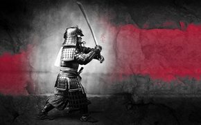Wallpaper warrior, samurai, knight, Samurai