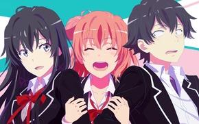 Picture girls, guy, anime, art, yuigahama Yui suggests, yukinoshita was load, oregairu, this hachiman