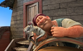 Picture cinema, animation, sea, ocean, pirate, nothing, wood, cat, island, man, cartoon, movie, Belgium, animal, ship, …