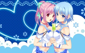 Picture girls, anime, art, Cup, Tropical Kiss