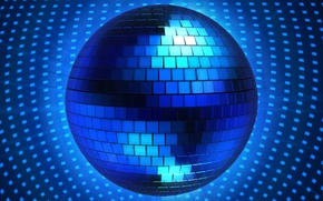 Picture blue, rendering, graphics, ball, disco