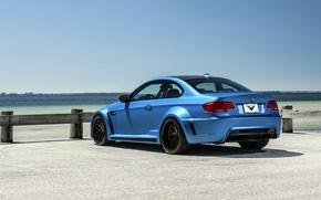 Picture blue, bmw, BMW, sports car, blue, gts, rearside