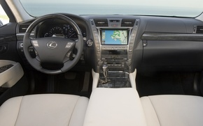 Picture machine, auto, lexus, sedan, salon, Lexus, hybrid, dashboard, torpedo, long, лс600, ls600hl, long