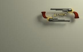 Picture gun, bullet, colt