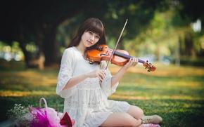 Picture violin, dress, East, violinist