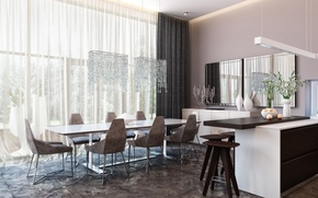Picture design, style, room, interior, dining room