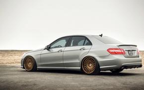 Picture Mercedes, wheels, E-class, Mercedes, E350, rearside