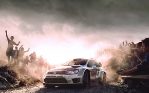Picture Auto, Figure, White, Sport, Volkswagen, Machine, Speed, People, Car, Red Bull, WRC, Rally, Rally, The …