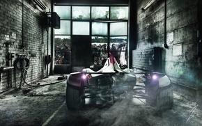 Picture Zombie, Car, Smoke, BAC, Escape, Mono