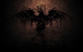 Picture rock, eagle, figure, Bird