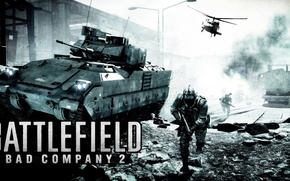 Picture War, Soldiers, Tank, The battlefield, Bad company, Battlefield BC2