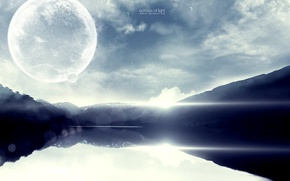 Picture the sky, water, planet, sky, артart
