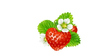 Picture summer, vector, strawberries, art, children's, berry