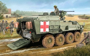 Picture figure, Stryker, Evacuation, Vehicle, M1133, Medical, Stryker MEV