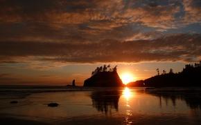 Picture sea, beach, sunset, beauty, beach, sea, sunset, beautiful
