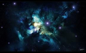 Picture space, nebula, nebula, art