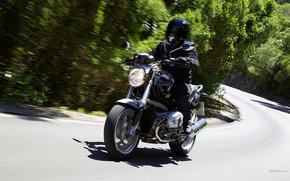 Picture road, speed, bike, bmw r 1200 r