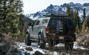 Picture mountains, nature, Toyota, Cars, Studio, Tuning, Tundra, Offroad, DEVOLRO