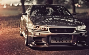 Picture road, tuning, GT-R, Nissan, Nissan Skyline, R34, Skye