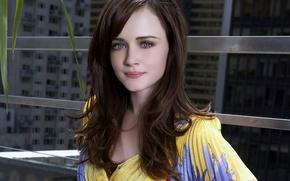 Picture hair, actress, beautiful, Alexis Bledel, eyes. face, Alexis Bledel