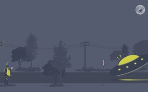 Picture fine, UFO, police, Traffic, excess