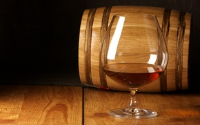 Picture tree, glass, barrel, cognac, cognac