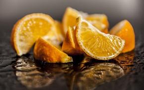 Picture water, macro, orange, food