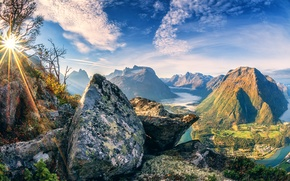 Picture the sky, the sun, mountains, stones