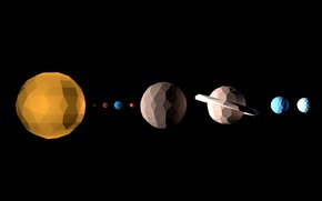 Picture space, planet, geometry, solar system, figure