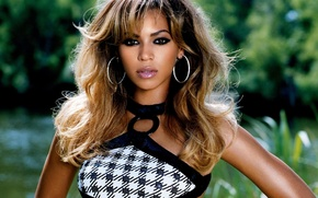 Picture nature, hair, earrings, blur, actress, singer, Beyonce, Beyonce