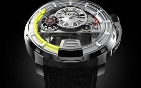 Picture watch, Watch, HYT, UNLEASHES A MASTERPIECE, WITH THE H1 WATCH