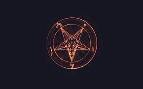 Picture glow, Satan, Lucifer, Pentagram