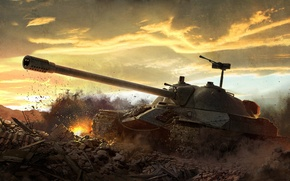 Wallpaper World of tanks, WoT, Is-7, World of tanks