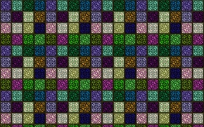 Picture squares, background, wall, mesh, figure, cell, grille, texture, ornament, colorful