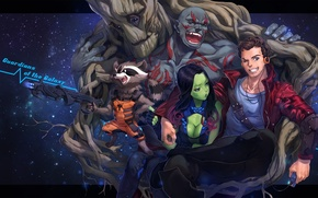 Picture girl, smile, weapons, guys, hugs, art, embarrassment, groot, guardians of the galaxy, gamora, peter quill, …