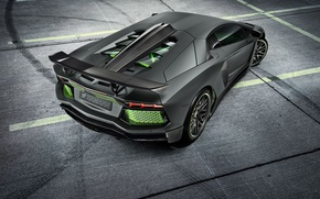 Picture Lamborghini, Light, Carbon, Green, LP700-4, Aventador, 2014, Limited, Rear, HAMANN