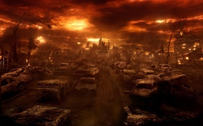 Picture the evening, in hell, Constantine