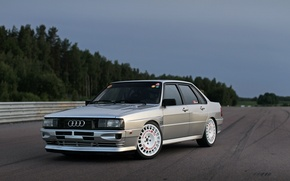 Picture Audi, Sedan, Quattro, 1984, Four-wheel drive, Full face