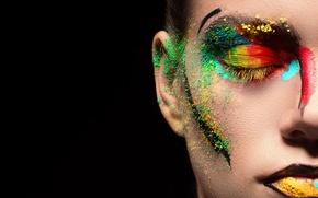 Wallpaper makeup, girl, background
